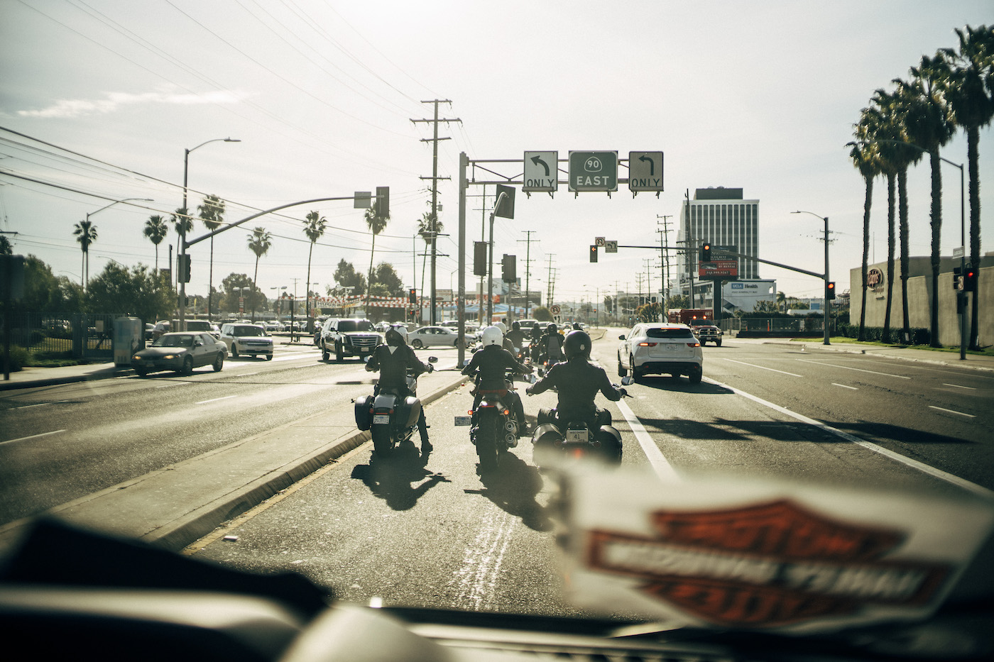 Welcome to LA traffic.