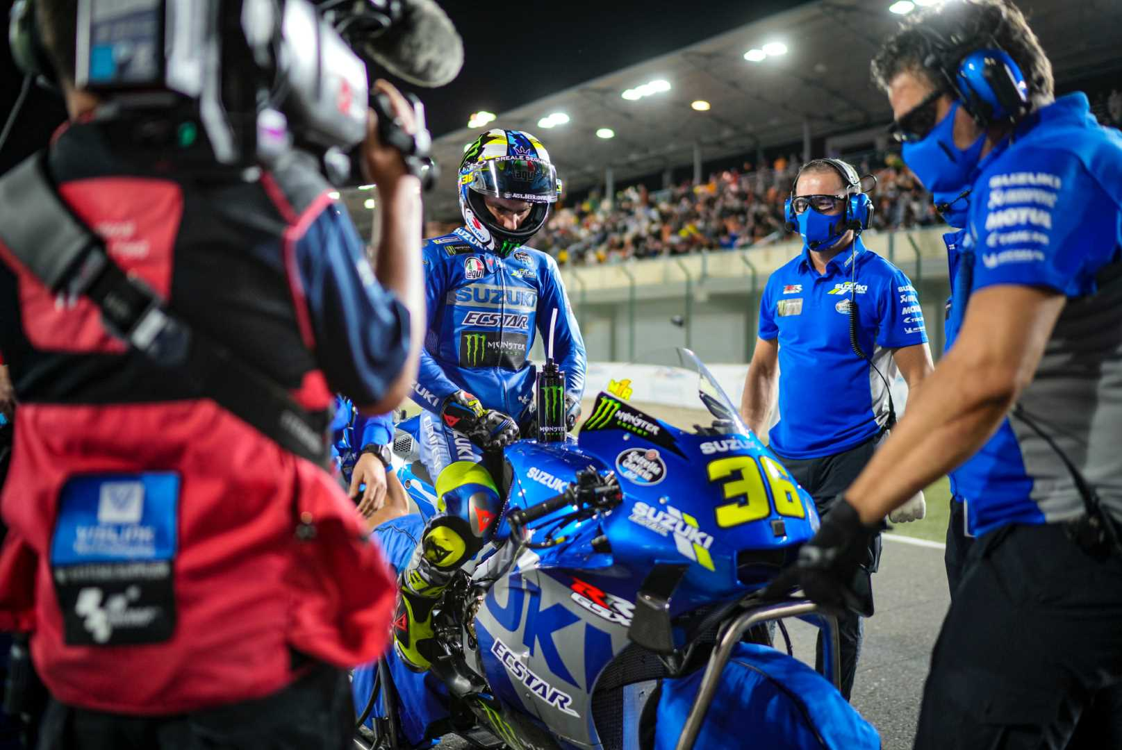 Fourth place fin and current MotoGP champ Joan Mir - Photo Suzuki Racing