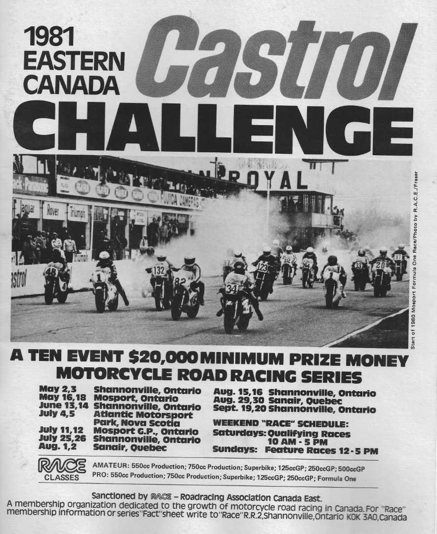 The 1981 RACE Program Cover