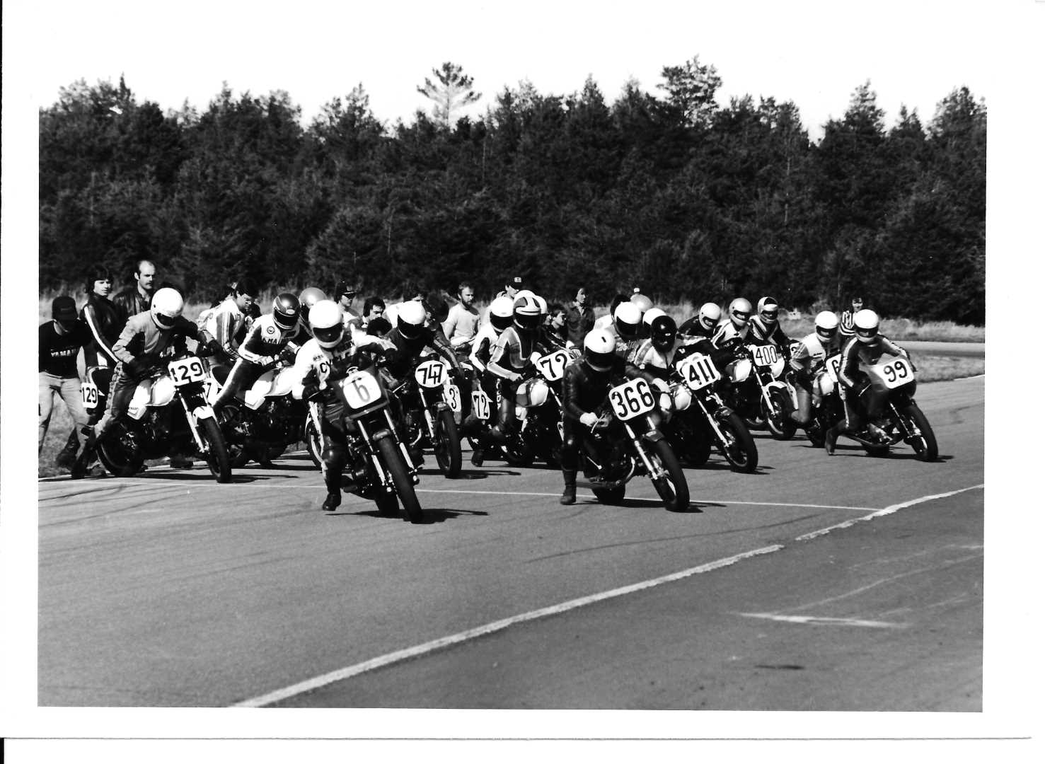 1981 Pro 550: The start of the first RACE round, at Shannonville