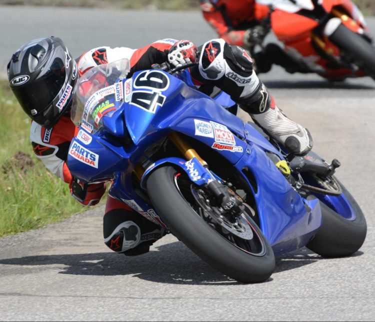 Teen-aged sensation Tomas Casas making his Pro National debut at Shannonville Motorsport Park for CSBK round one in 2017 on his Yamaha YZF-R6. He would eventually earn two Liqui Moly Pro Sport Bike National titles in the middleweight category. CREDIT: CSBK