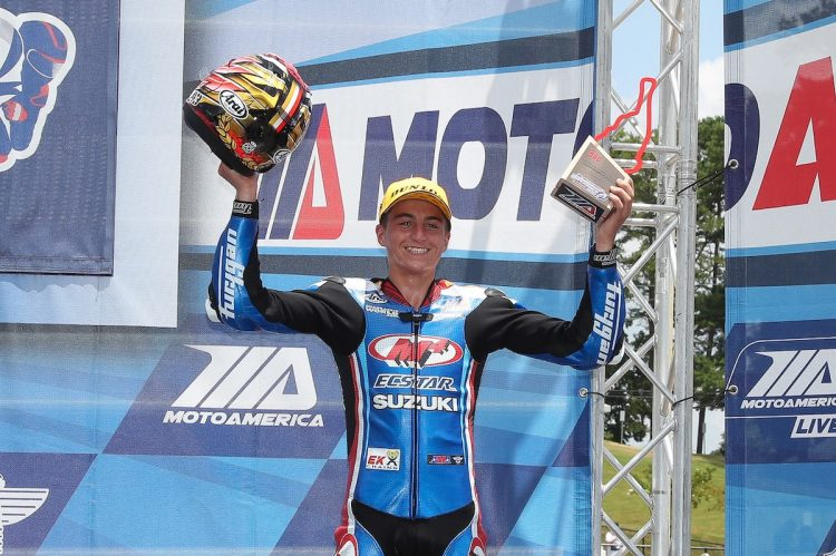 After several successful seasons in MotoAmerica, teenager Alex Dumas returns to Canada this season and will be gunning for a pair of special awards during CSBK Pro Superbike action aboard his Liqui Moly Suzuki. CREDIT: Team Hammer/MotoAmerica, by Brian J. Nelson